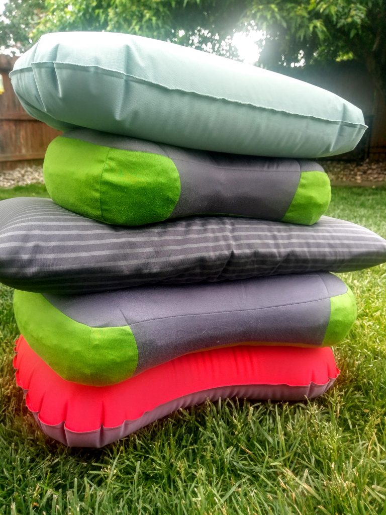 Backpacking pillows