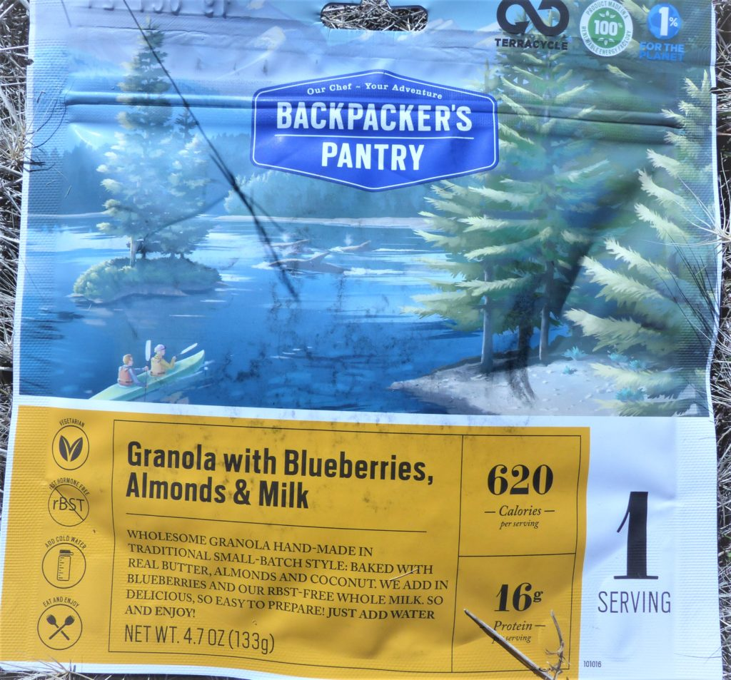 Backpackers Pantry Granola, Blueberries, Almonds and Milk