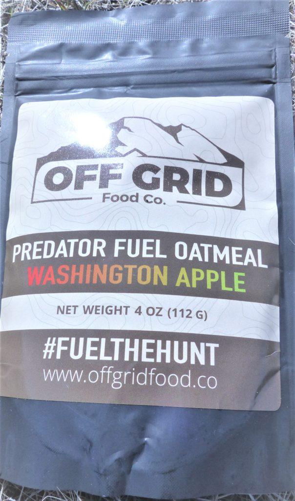 Off Grid Predator Fuel Oatmeal Washington Apple